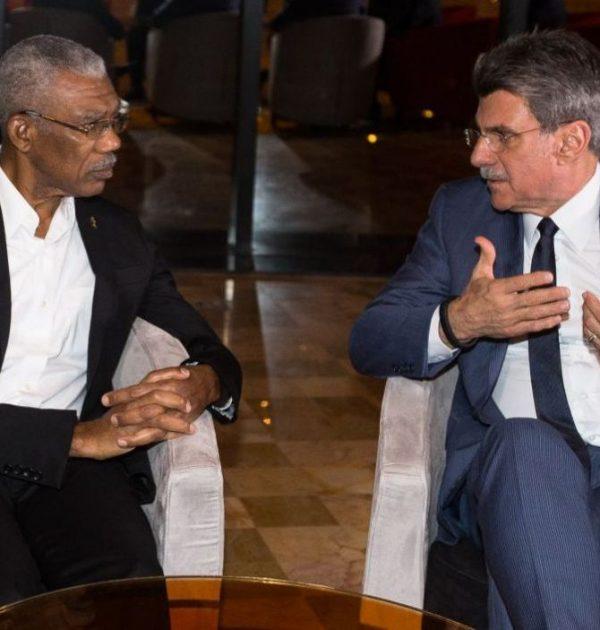 Romero Jucá e Presidente da Guiana, país da capital Georgetown