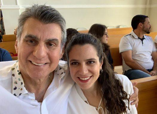 Romero jucá e sua filha Marina