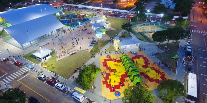 Imagem aérea da Praça Primeira Infância de Boa VstaBoa Vista Jucá