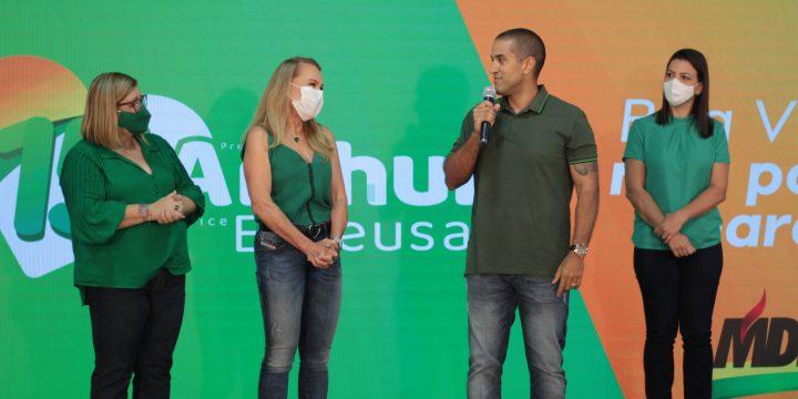 Arthur e Teresa Convenção MDB Boa Vista