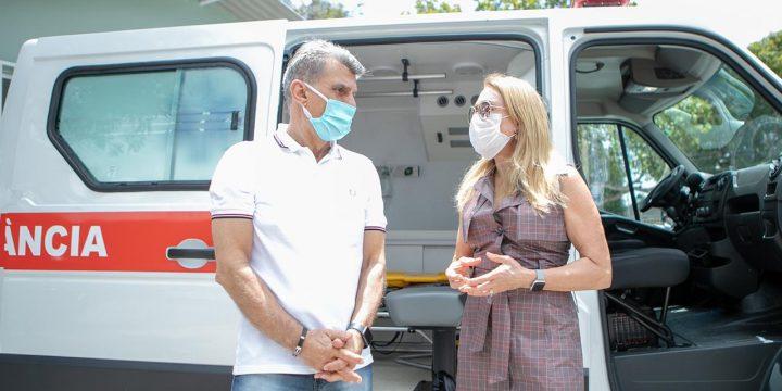 Novas ambulâncias Boa Vista Saúde Jucá Teresa