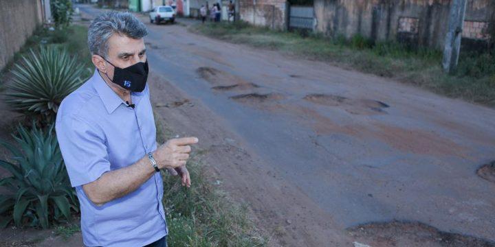 Jucá anuncia obra para acabar ponto de alagamento no Caimbé