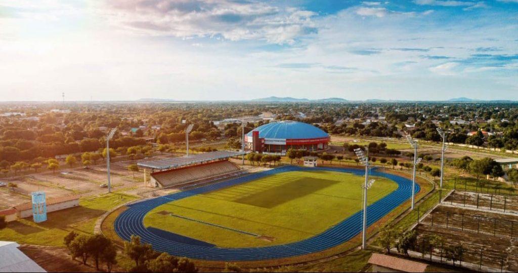 Imagem aérea da Vila Olímpica Roberto Marinho. Dia do Futebol é dia 19 de junho