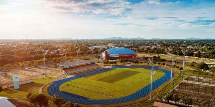 Imagem aérea da Vila Olímpica Roberto Marinho. Dia do Futebol é dia 19 de junho. Minuto Olímpico