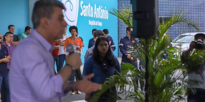 Romero Jucá fala durante inauguração em Hospital da Criança