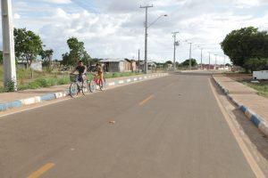 Em Bonfim, a Avenida dos Tuxauas está asfaltada