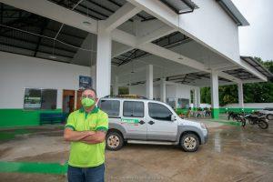 Esiel Lopes em Rodoviária construída no Amajari com recursos do senador de Roraima