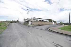 Imagem de ruas asfaltada é prova de melhorias na fronteira