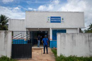 Imagem da frente de Unidade Básica de Saúde