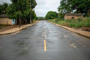 Imagem de rua asfaltada em perfeito estado é resultado da parceria de Jucá com Iracema