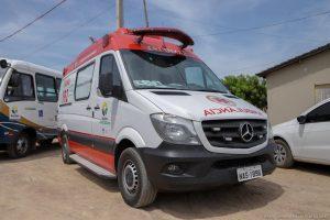Imagem de Ambulância adquirida por Jucá para Iracema