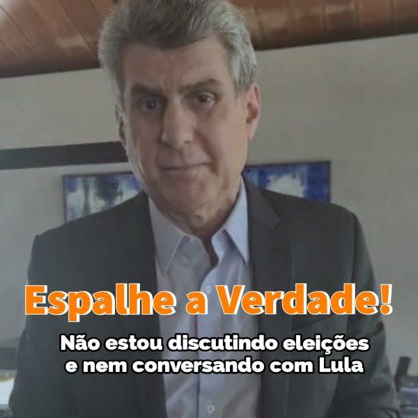 Romero Jucá desmente fake news sobre Lula