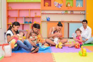 Mães e bebês no FQA