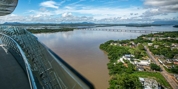 Imagem de cima do Mirante do Parque do Rio Branco