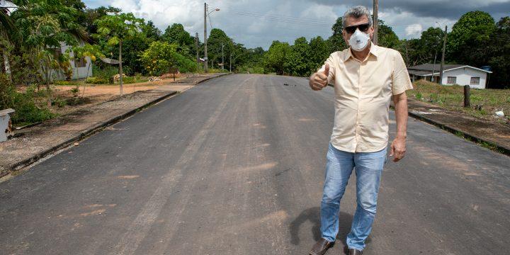 Jucá confere asfalto em São Luiz