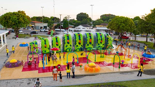 Fonte de águas da Praça da Primeira Infância em Boa Vista