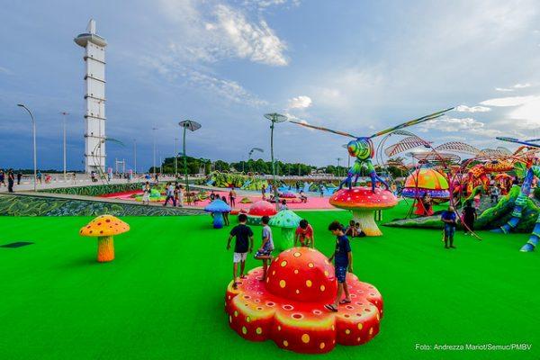 Parque do Rio BPraças e muita diversão para família em Boa Vista