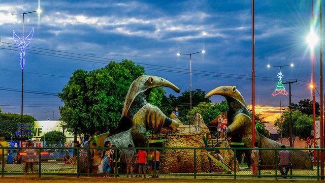 A praça do Cidade Satélite tem uma edição da selvinha amazônica