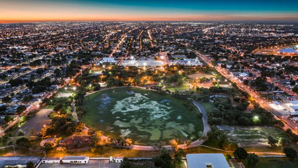 Vista aérea do Parque