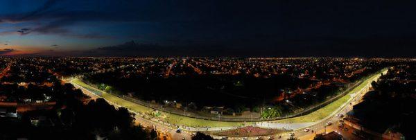 Vista aérea do parque do igarapé pricumã