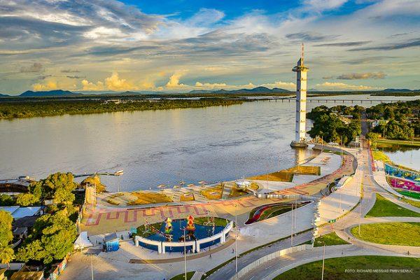 Imagem aérea do Parque do Rio Branco de Boa Vista Roraima