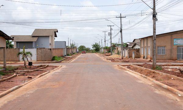 Ruas com asfalto no Cidade Universitária em Boa Vista