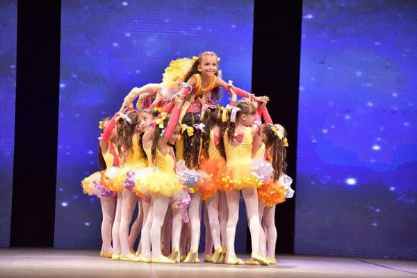Apresentação de ballet de crianças