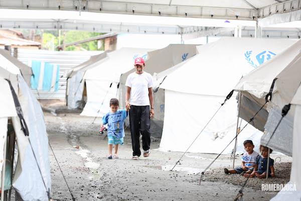 Venezuelanos em abrigo da Operação Acolhida de Roraima