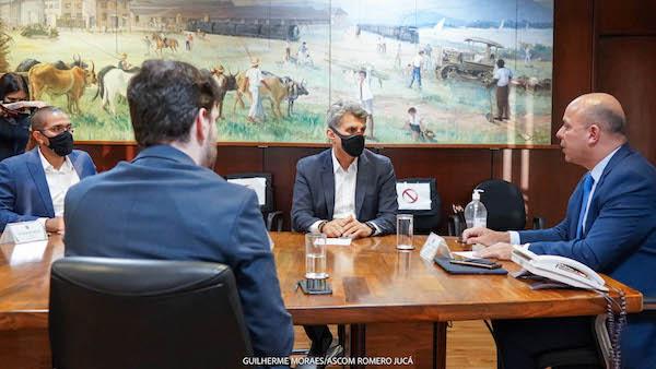Romero Jucá participa de reunião no Ministério da Economia sobre a ZPE de Boa Vista