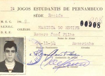 Carderneta escolar de Romero Jucá