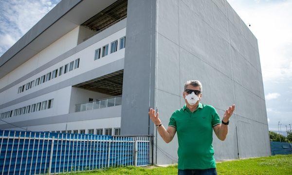 Romero Jucá visita obra do novo bloco do Hospital Geral de Roraima