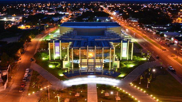 Imagem aérea do Teatro Municipal