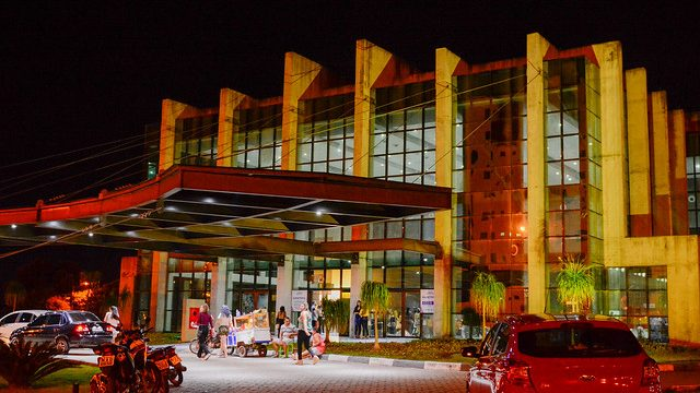 Entrada principal do Teatro de Boa Vista