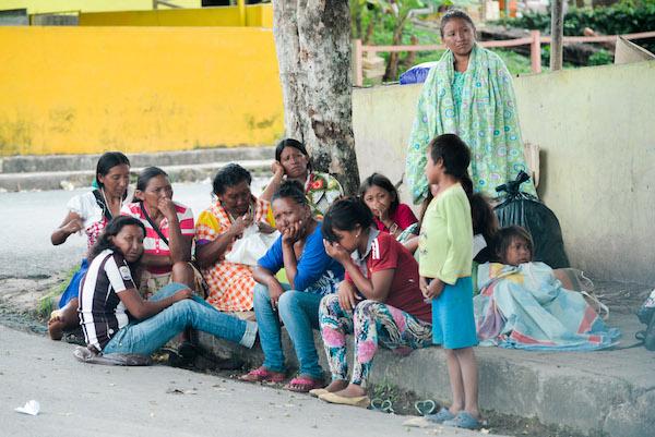 Venezuelanos nas ruas de Pacaraima em Roraima