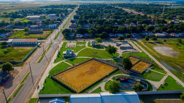 Vista aérea da Praça do Conjunto Cidadão