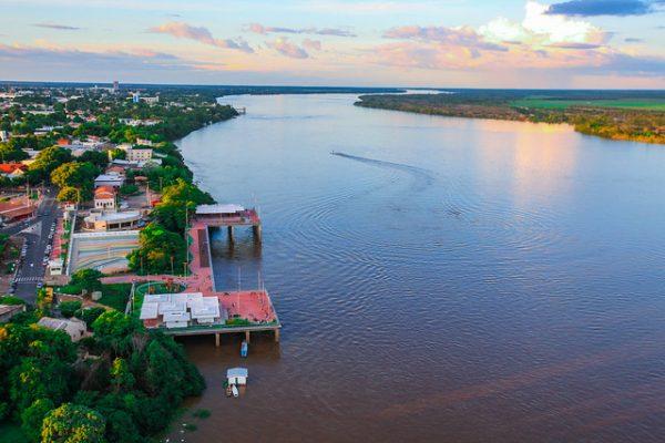 Vista aérea do rio Branco