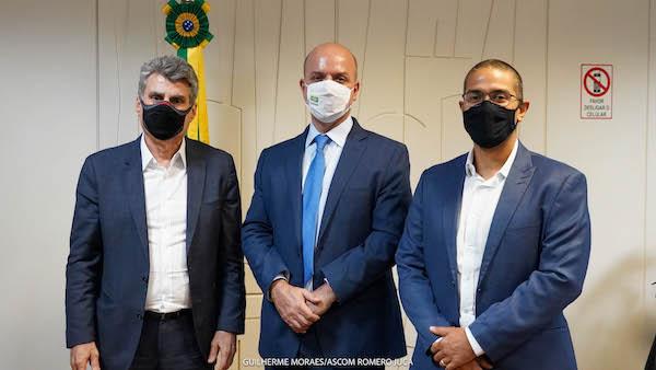 ZPE de Boa Vista é tema de reunião entre o prefeito Arthur Henrique, Romero Jucá e o secretário do Ministério da Economia, Carlos Costa