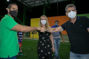 Romero Jucá, Teresa Surita e o prefeito de Boa Vista Arthur Henrique